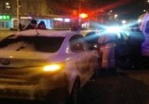 Появилось видео ДТП с участием четырех машин в самом центре Калуги